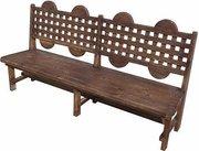 Скамейки под старину,  Деревянная скамья Адамант