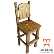 Купить деревянные барные стулья,  Стул барный под старину