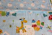 Постель для детей из сатина,  Комплект Жирафик