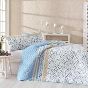 Купить покрывало евро Eponj Home Fashion голубое 200*220