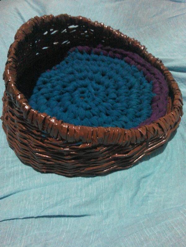 Плетеная корзина для кошки,  собаки