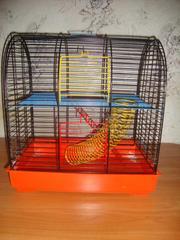 Продаётся крашеная двухэтажная клетка для грызунов